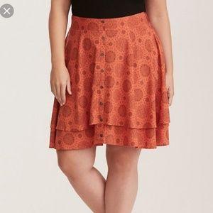 NWT Torrid button front skirt
